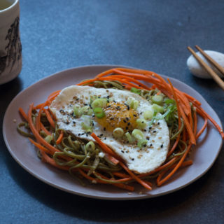 Chilled Sesame Soba with Fried Egg